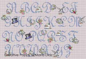 Maria Diaz - Romantic Wedding ABC (cross stitch patterns)