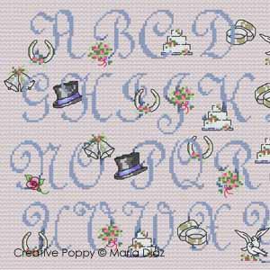 Maria Diaz - Romantic Wedding ABC (cross stitch patterns) (zoom1)