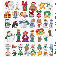 Maria Diaz - Christmas mini motifs (cross stitch pattern)