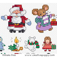 60 Christmas Cross stitch mini motifs