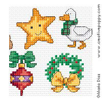 Maria Diaz Christmas Mini Motifs Cross Stitch