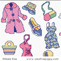 Nothing to wear Cross stitch Mini motifs