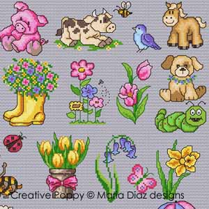 Maria Diaz - Spring mini motifs (cross stitch patterns)