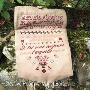 <b>Roll-up Organizer Pouch </b><br/>cross stitch pattern<br />by <b>Muriel Berceville</b>