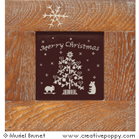 Merry Christmas - cross stitch pattern - by Muriel Berceville
