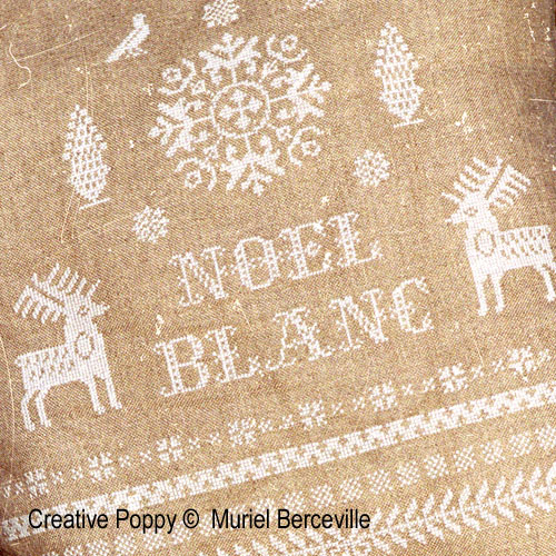 Noël Blanc cross stitch pattern by Muriel Berceville, zoom 1
