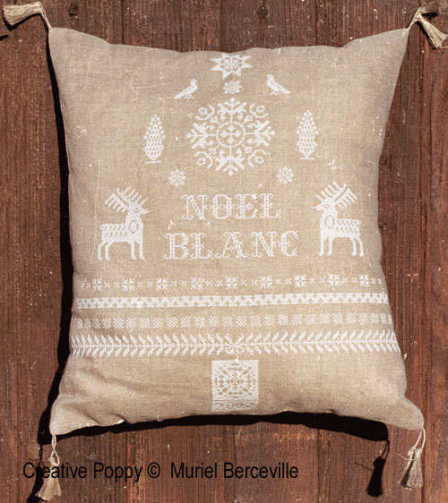 White Christmas cross stitch pattern by Muriel Berceville