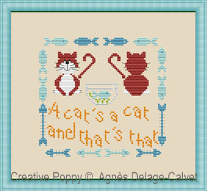 My best behaviour cross stitch pattern by Agnes Delage-Calvet