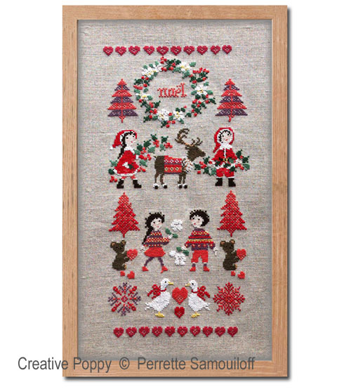 Perrette Samouiloff - Nordic Christmas banner (cross stitch pattern chart)