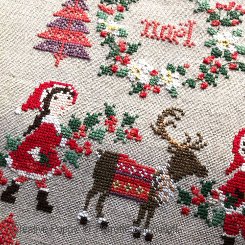 Cross stitch patterns for Christmas featuring Reindeer