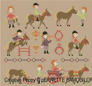 Perrette Samouiloff - Pony Club (cross stitch pattern chart)