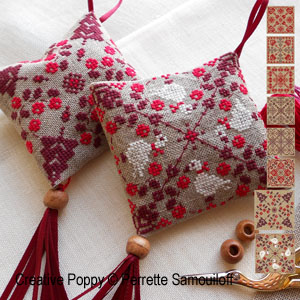 Tutorial: how to make ornaments out of square pieces