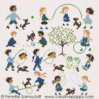 The playground (large pattern) - cross stitch pattern - by Perrette Samouiloff
