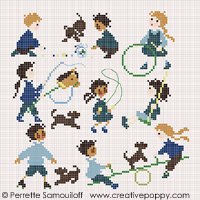 <b>The playground (small pattern)</b><br>cross stitch pattern<br>by <b>Perrette Samouiloff</b>