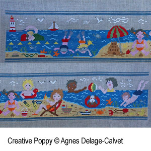 A story told in stitches: At the Seaside cross stitch pattern by Agnès Delage-Calvet