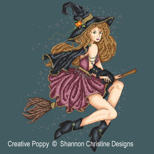 Bewitched cross stitch pattern by Shannon Christine Designs