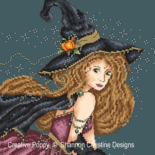 Bewitched cross stitch pattern by Shannon Christine Designs, zoom 1