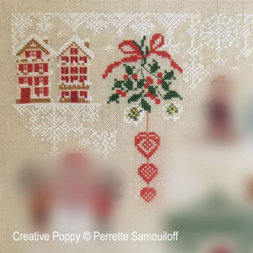 Christmas 2021 Mystery chart (SAL) cross stitch pattern by Perrette Samouiloff, zoom 1