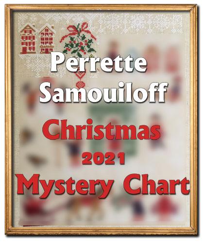 Christmas 2021 Mystery chart (SAL) cross stitch pattern by Perrette Samouiloff