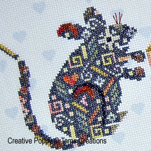 Tam's Creations - Mouseinpatches (cross stitch pattern chart ) (zoom1)