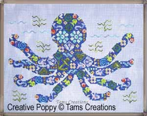 Octopatches cross stitch pattern by Tams Creations
