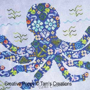 Tam's Creations - Octopatches (counted cross stitch pattern chart) (zoom1)