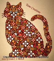 Pussinpatches - cross stitch pattern - by Tam's Creations
