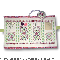 Cranberry sewing set - cross stitch pattern - by Tam's Creations