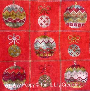 Tom Amp Lily Christmas Ball Ornaments Cross Stitch