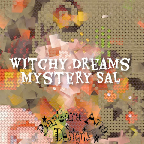Witchy Dreams Mystery SAL- Subscription cross stitch pattern by Barbara Ana Designs