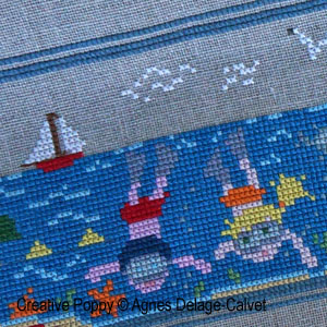 A story told in stitches: At the Seaside cross stitch pattern by Agnès Delage-Calvet, zoom 1