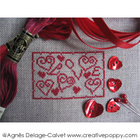 All features related to expressing Love in cross stitch