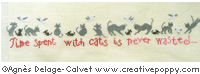 Time spent with cats - cross stitch pattern - by Agnès Delage-Calvet