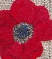 A poppy (embroidery), counted cross stitch chart, designed by Agnès Delage-Calvet