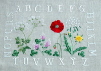 Wildflower ABC - embroidery pattern - by Agnès Delage-Calvet