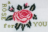 A Rose for You - cross stitch pattern - by Agnès Delage-Calvet