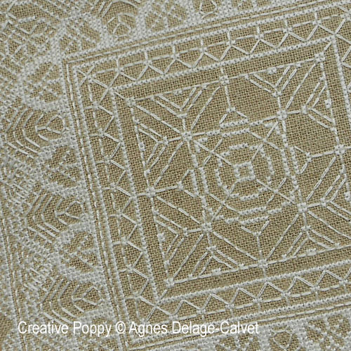 White Lace Square & Borders cross stitch pattern by Agnès Delage-Calvet
