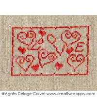 Love miniature - cross stitch pattern - by Agnès Delage-Calvet