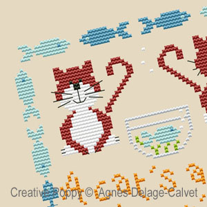My best behaviour cross stitch pattern by Agnes Delage-Calvet, zoom 1