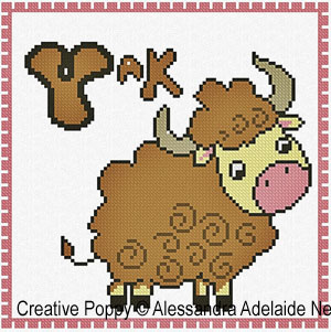 Animal alphabet cross stitch pattern by Alessandra Adelaide needleworks