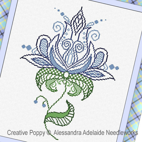 Fiore 1 cross stitch pattern by Alessandra Adelaide