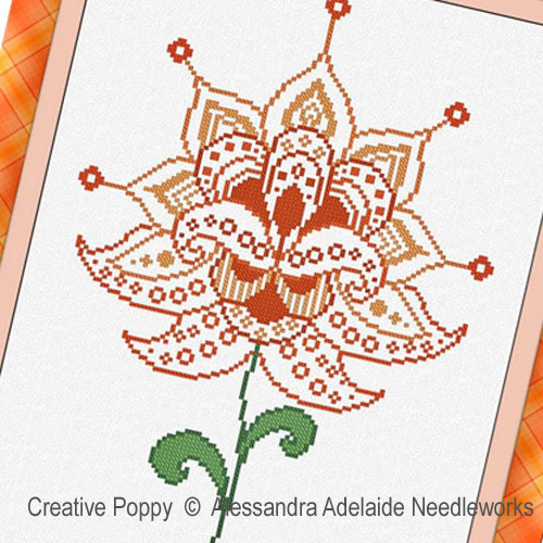 Fiore 4 cross stitch pattern by Alessandra Adelaide Needleworks, zoom 1