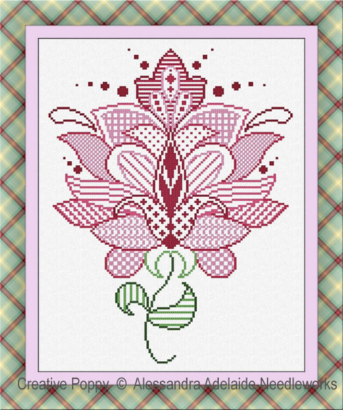Fiore 5 cross stitch pattern by Alessandra Adelaide Needleworks