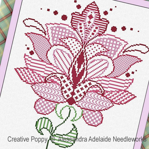 Fiore 5 cross stitch pattern by Alessandra Adelaide Needleworks, zoom 1