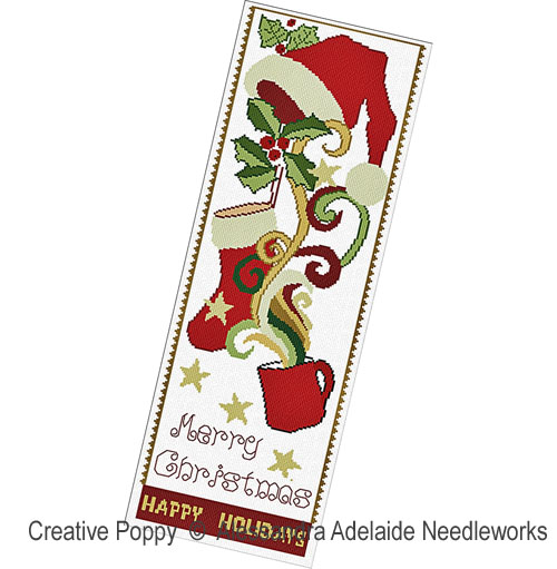 Christmas tale banner cross stitch pattern by Alessandra Adelaide Needleworks