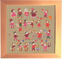 <b>Happy Childhood collection  - Birthday party</b><br>cross stitch pattern<br>by <b>Perrette Samouiloff</b>