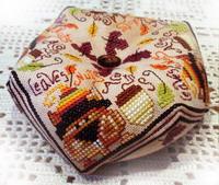Autumn biscornu - cross stitch pattern - by Barbara Ana Designs