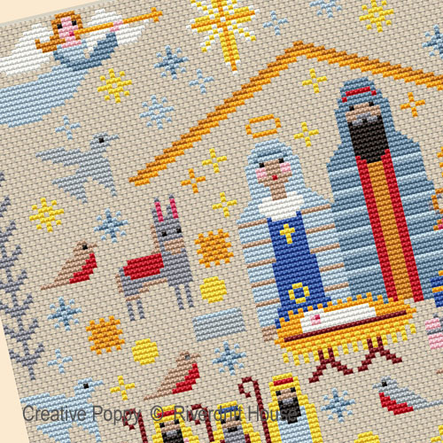Christmas Nativity Sampler cross stitch pattern by Riverdrift House
