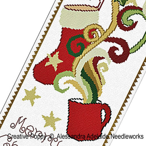 Christmas tale banner cross stitch pattern by Alessandra Adelaide Needleworks, zoom 1