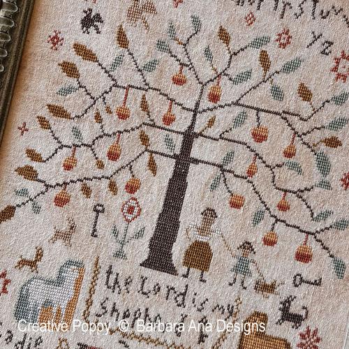 Sadie Woods 1901 cross stitch pattern by Barbara Ana Designs, zoom 1